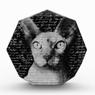 Sphynx cat acrylic award