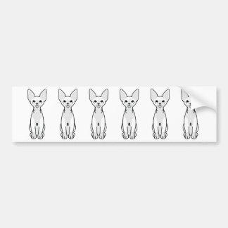 Sphynx Cat Cartoon Bumper Sticker