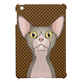 Sphynx Cat Cartoon Paws (Bicolor) iPad Mini Case