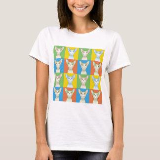 Sphynx Cat Cartoon Pop-Art T-Shirt