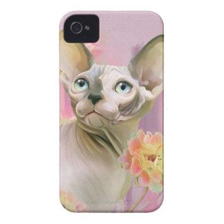 Sphynx Cat in flowers. Case-Mate iPhone 4 Case