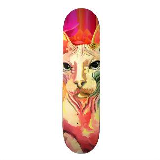 Sphynx Cat in flowers. Skateboard Deck