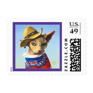 Sphynx Cat Independence Day Postage