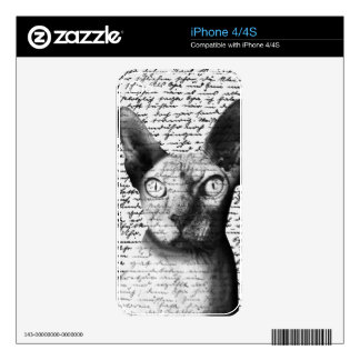 Sphynx cat iPhone 4 skins