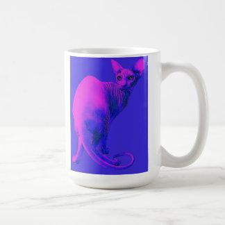 sphynx cat-pink coffee mug