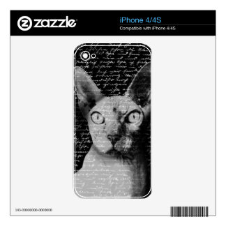 Sphynx cat skin for iPhone 4S