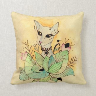 sphynx cat throw pillows