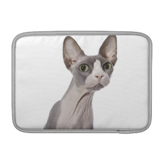 Sphynx Cat with surprised expression Sleeve For MacBook Air