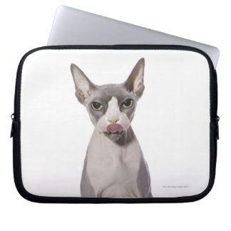 Sphynx Cat with tongue out Laptop Sleeve