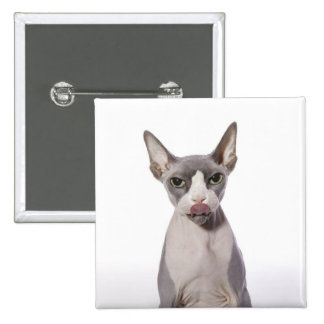 Sphynx Cat with tongue out Pinback Button