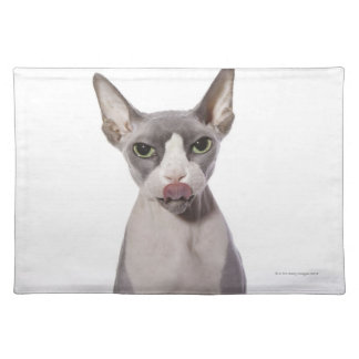 Sphynx Cat with tongue out Placemat