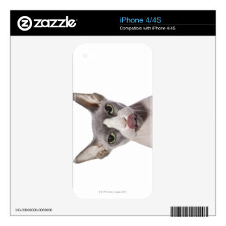 Sphynx Cat with tongue out Skins For The iPhone 4S