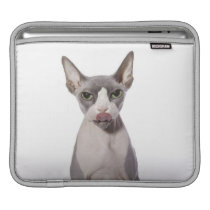 Sphynx Cat with tongue out Sleeve For iPads