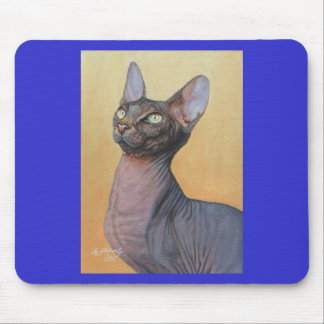 Sphynx Sphinx Cat Cats Electra Mouse Pad