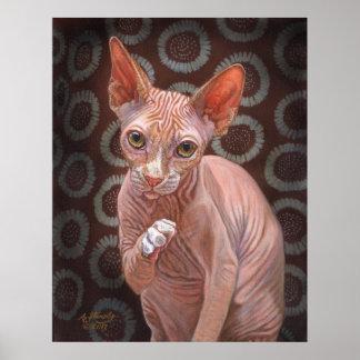 Sphynx Sphinx Cat Jack Poster