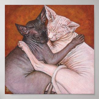 Sphynx Sphinx Cat Painting Art Poster