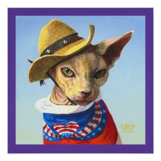 Sphynx Sphinx Independence Day 4th of July Poster