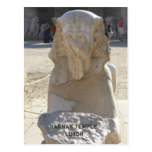 Sphynx Statue, Karnak Temple Postcard