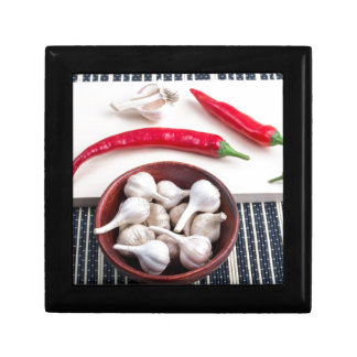 Spice background for cooking jewelry box