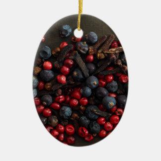 Spice Berries Ceramic Ornament