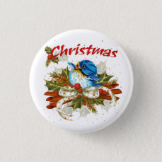 SPICE BIRD CHRISTMAS SMALL BUTTON