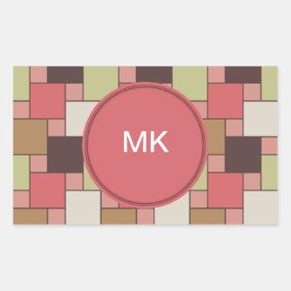 Spice Cabinet Geometric Rectangular Sticker