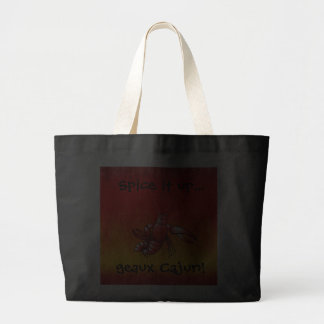 Spice it up jumbo tote canvas bags