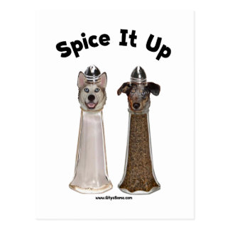 Spice It Up Salt and Pepper Dogs Postcard