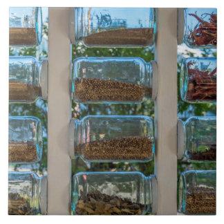 Spice jars ceramic photo tile