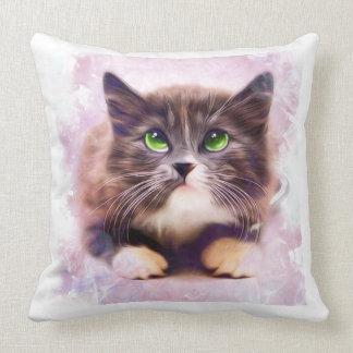 Spice Kitten Throw Pillow