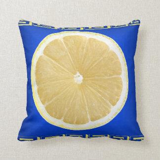 spice of life  dark blue throw pillow