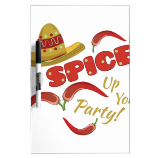 Spice Party Dry Erase Board