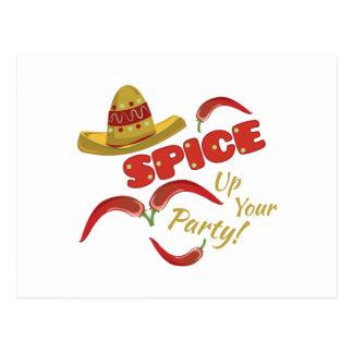 Spice Party Postcard