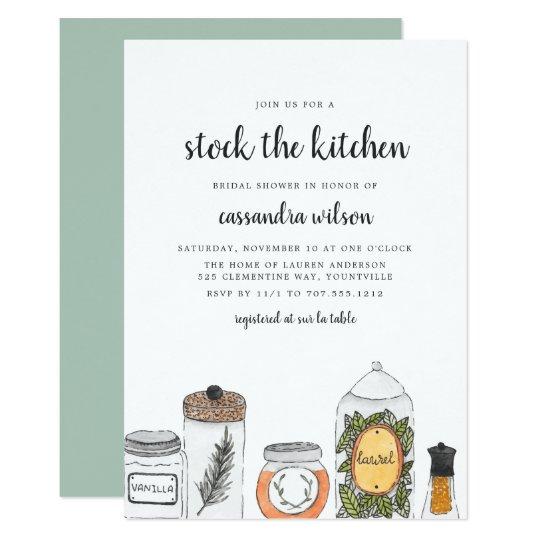 spice rack kitchen bridal shower invitation