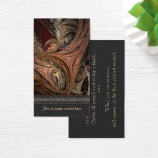 Spice Twist Fractal Art Business Card
