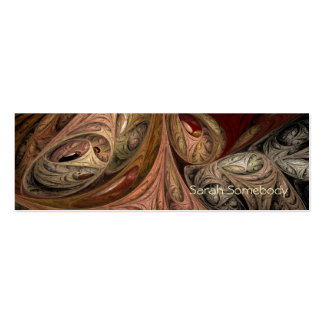Spice Twist Fractal Profile Card Double-Sided Mini Business Cards (Pack Of 20)