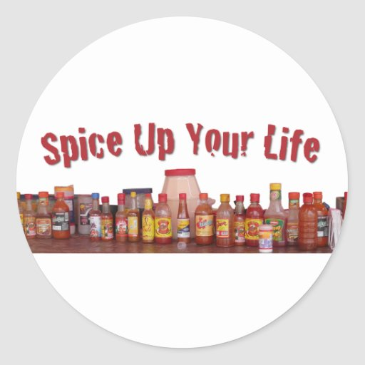 Spice Up Your Life Round Sticker