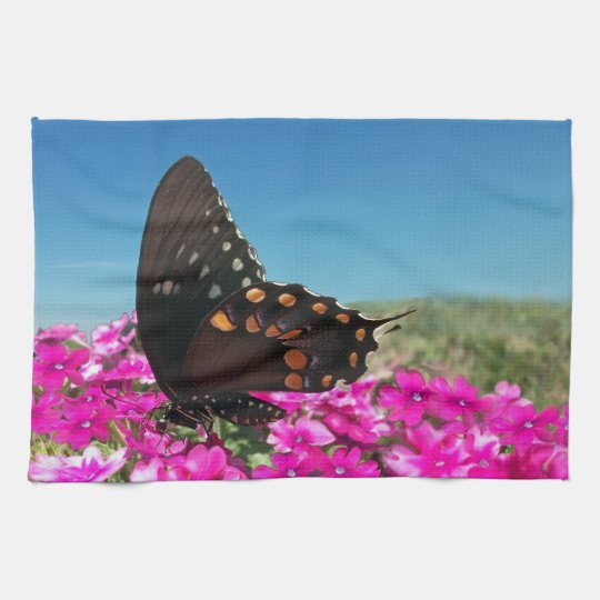 Spicebush Swallowtail Butterfly Kitchen Towel