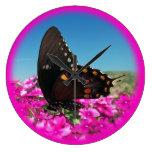 Spicebush Swallowtail Butterfly Wall Clock