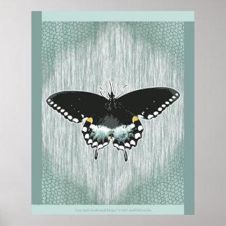 Spicebush Swallowtail Design Poster