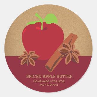Spiced Apple Butter, Apple Cider, Gift Label