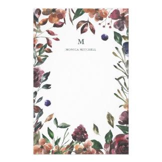 Spiced Botanical | Monogram Stationery