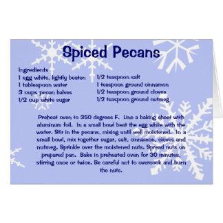 Spiced Pecans Christmas Card
