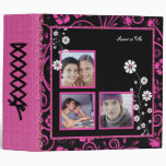 Spiced Pink Triple Photo 3 Ring Binder