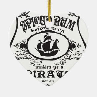 Spiced Rum Ceramic Ornament