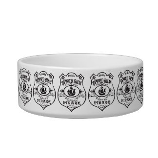 Spiced Rum Pirate Pet Water Bowl
