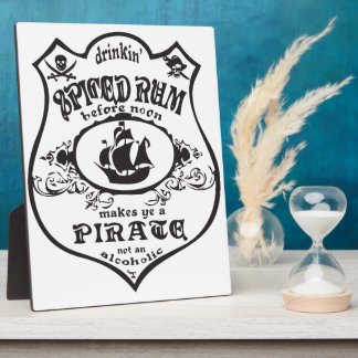 Spiced Rum Pirate Display Plaques