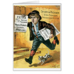 Spicers and Peckham Stove Founders Newsboy Greeting Card