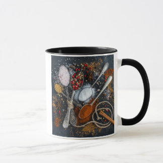 Spices Arranged on Spoons Mug