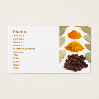 Spices Business Card